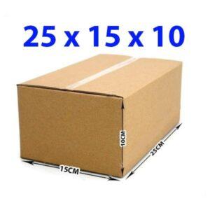 Hộp giấy carton 25x15x10 (3 lớp)