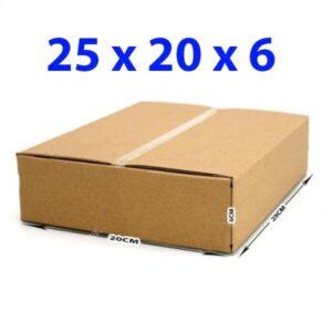 Hộp giấy carton 25x20x6 (3 lớp)