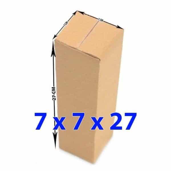 hop giay carton 7x7x27 - Hộp giấy carton 7x7x27 (3 lớp)