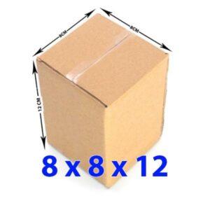 Hộp giấy carton 8x8x12 (3 lớp)