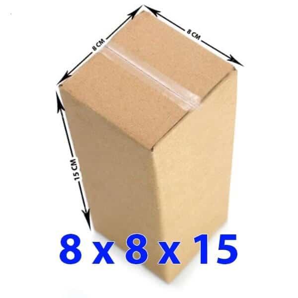 Hộp giấy carton 8x8x15 (3 lớp)