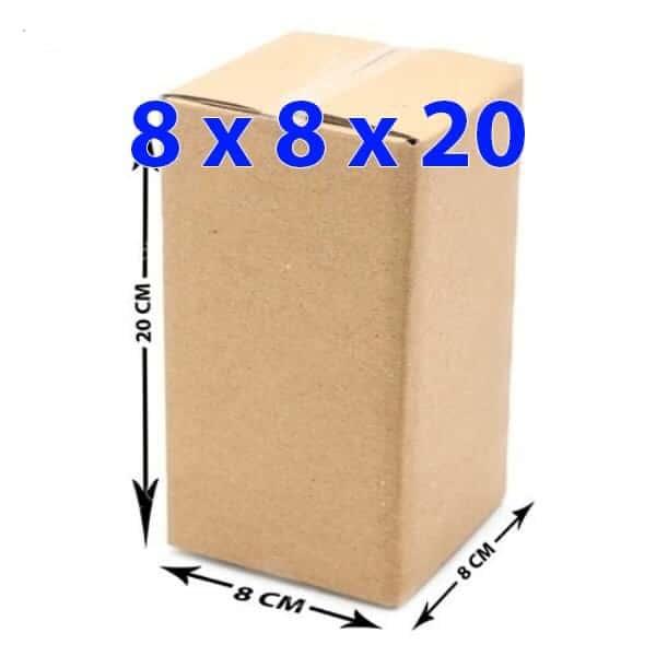 Hộp giấy carton 8x8x20 (3 lớp)