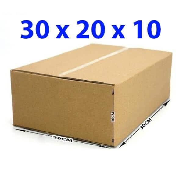 Thùng giấy carton 30x20x10 (3 lớp)