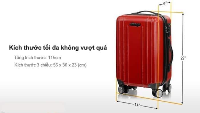 Kích thước hành lý ký gửi Vietnam Airlines