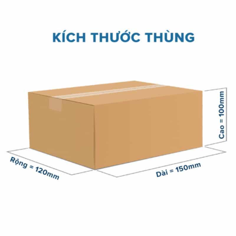 kich thuoc thung carton 1 - Thùng giấy carton giá rẻ TPHCM