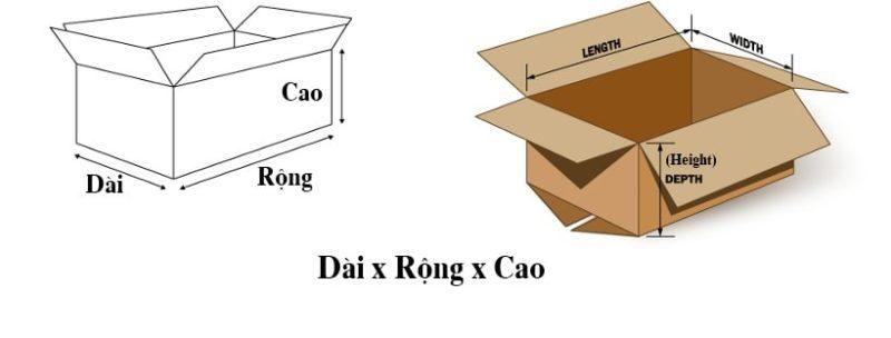 kich thuoc thung carton - Mua thùng carton, thùng giấy ở đâu TPHCM?