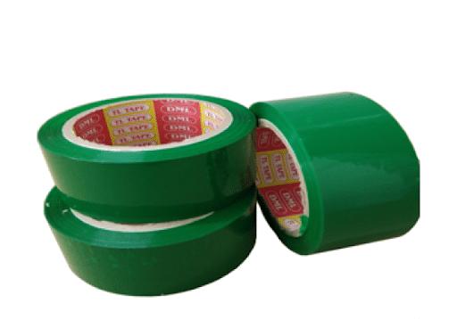 bang keo mau xanh la 3 - Băng keo màu xanh lá dán thùng carton