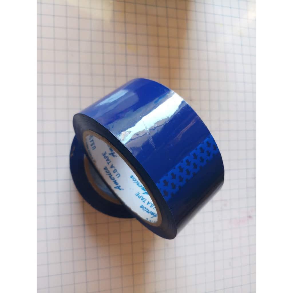 bang keo xanh duong 1 - Băng keo màu xanh dương dán thùng carton
