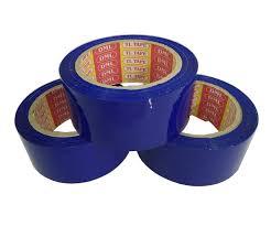 Băng keo màu xanh dương dán thùng carton