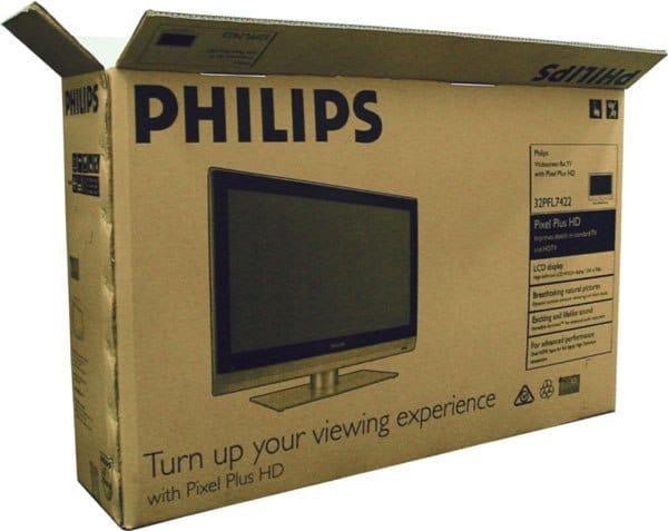 Thùng giấy carton đựng tivi, đồ điện tử